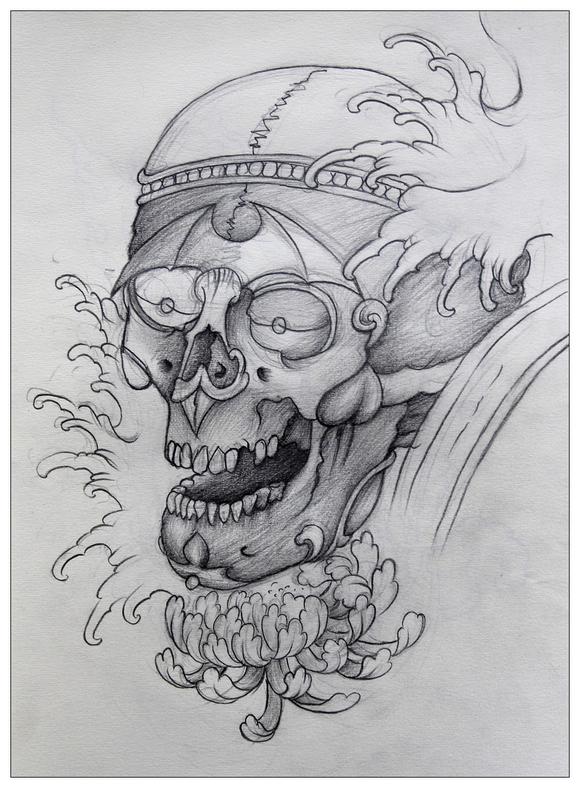西安风景手绘铅笔画